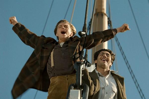 Leonardo DiCaprio e Danny Nucci em Titanic (Foto: Divulgação)