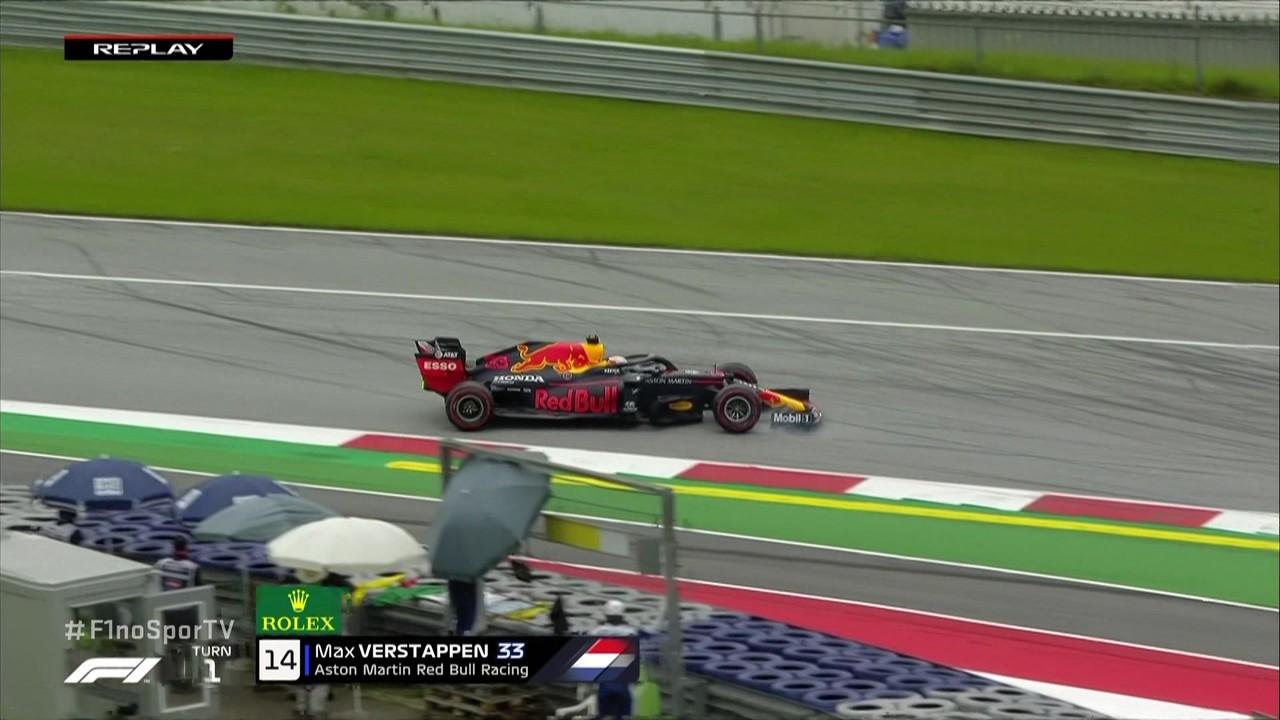 Max Verstappen toca a zebra e roda no primeiro treino livre para o GP da Áustria
