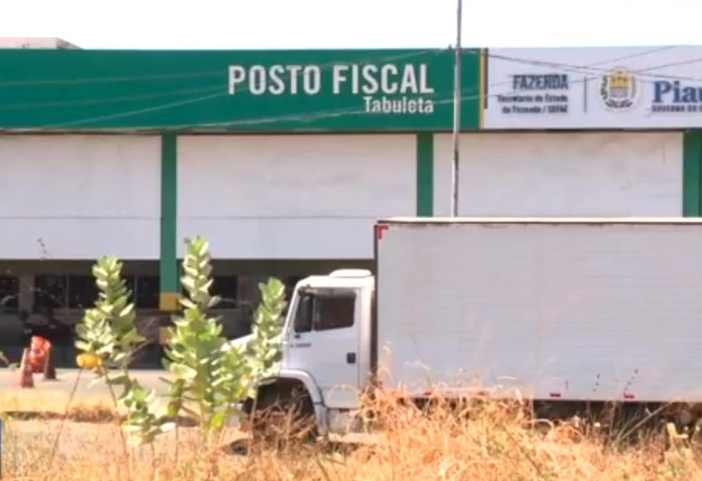 Posto fiscal da Tabuleta, na Zona Sul de Teresina - Piauí — Foto: Josivan Gomes/ TV Clube