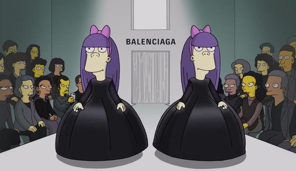 Terri e Sherri no vídeo dos Simpsons x Balenciaga (Foto: Reprodução)