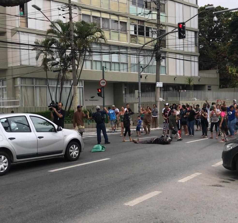 Protesto em São José dos Campos — Foto: Agda Queiroz/TV Vanguarda