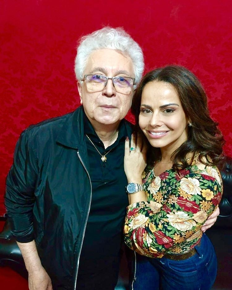 Aguinaldo Silva e VIviane Araújo (Foto: Reprodução/Instagram)