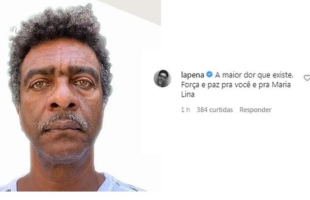 O ator e humorista Hélio de La Pena também prestou sua solidariedade (Foto: Reprodução)
