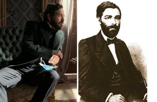 Alcemar Vieira terá o papel de José de Alencar, que foi Ministro da Justiça e abandonou a política em 1870, por atritos com Dom Pedro II (Foto: Charles Fricks e reprodução)