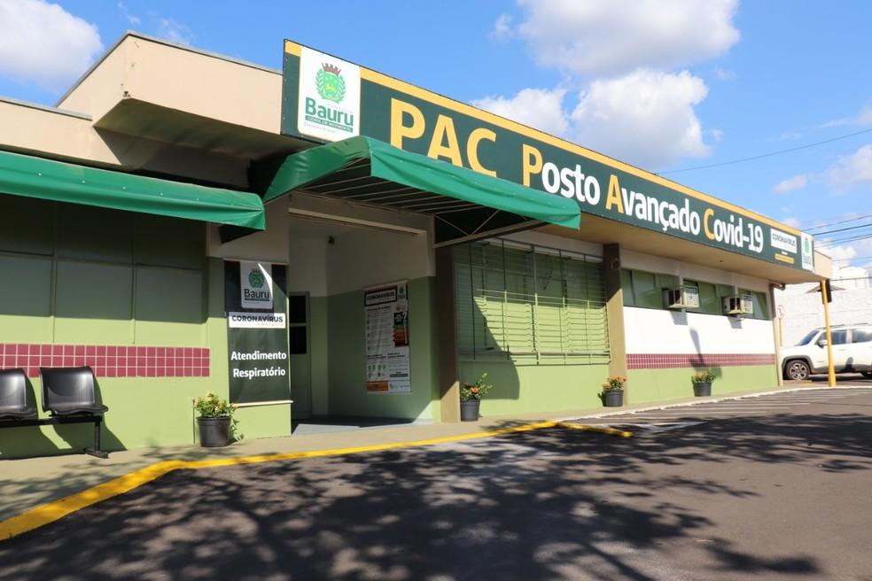 Posto Avançado do Coronavírus (PAC) segue em funcionamento ao lado do PSC; juntas, as duas unidades terão 26 leitos para Covid-19 — Foto: Divulgação/Prefeitura de Bauru