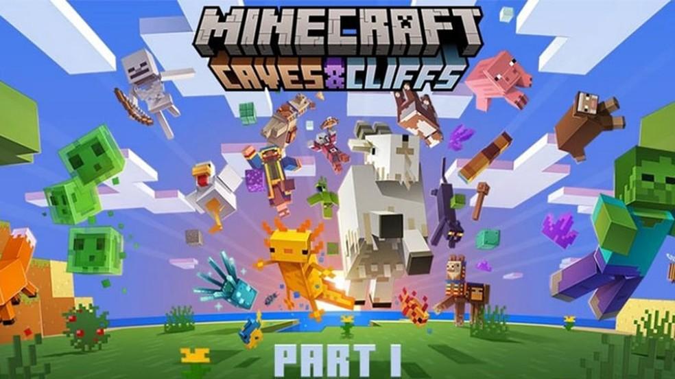 Minecraft receberá sua atualização Caves & Cliffs: Part 1 em 8 de junho em todas as plataformas — Foto: Reprodução/Minecraft