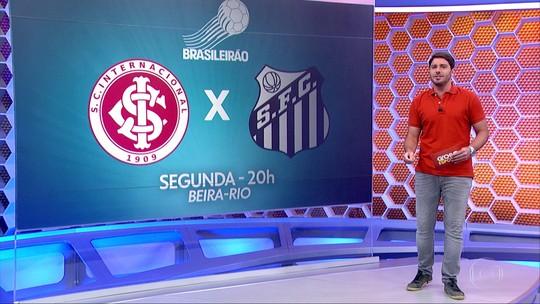 Santos se prepara para enfrentar o Internacional, no Beira-Rio, na próxima segunda-feira.