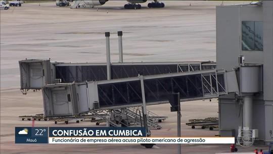 Piloto acusado de agredir funcionária no aeroporto de Guarulhos volta para os EUA
