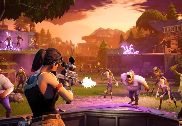 Imagem do Fortnite, jogo criado pela Epic Games. Lançado recentemente para iOS, o jogo foi um dos que chegaram mais rapidamente à marca dos US$ 100 milhões (Foto: BagoGames/Flickr)