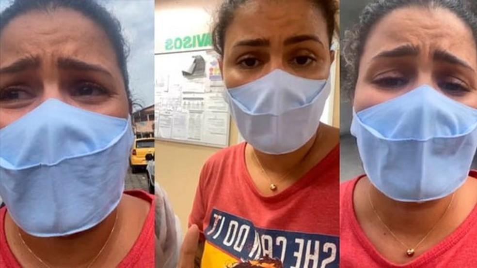 Em seu perfil no Instagram, Thalita Rocha relatou situação trágica após falta de oxigênio em unidade de saúde de Manaus — Foto: Reprodução/Instagram