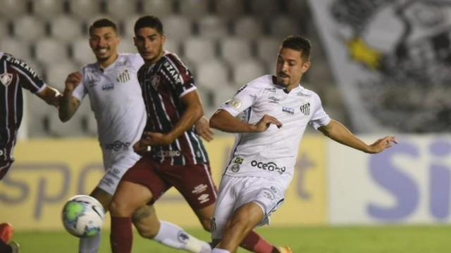 Gol de Jean Mota em Santos x Fluminense