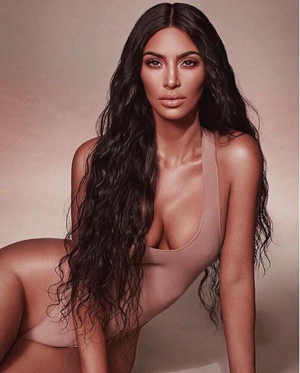 A foto compartilhada por Kim Kardashian que causou fúria nas redes sociais (Foto: Instagram)