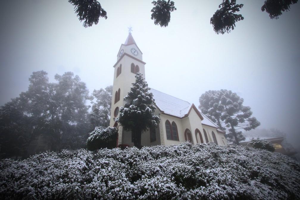 Sob o frio da Serra Gaúcha, Gramado oferece farta programação ao turismo: do Lano Negro, ao parque de neve Snowland — Foto: Gramado Inesquecível