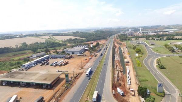 Obras na BR-376 provocam desvio na região do Distrito Industrial de Ponta Grossa; veja como fica