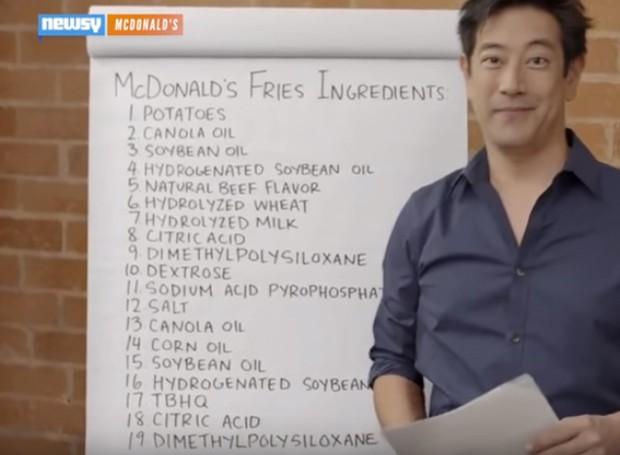 O ex-apresentador do programa Mythbusters revelou todos os ingredientes utilizados nas fritas dos Estados Unidos em 2015 (Foto: Youtube/ Reprodução)
