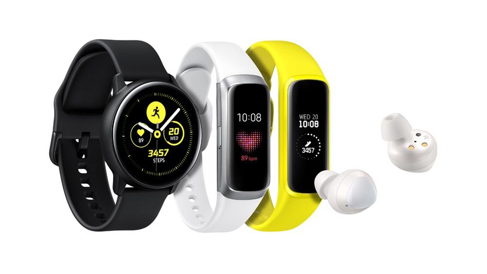 Wearables apresentados pela Samsung (Foto: Divulgação)