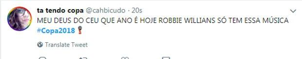 Internauta reage à abertura da Copa do Mundo (Foto: Reprodução Twitter)