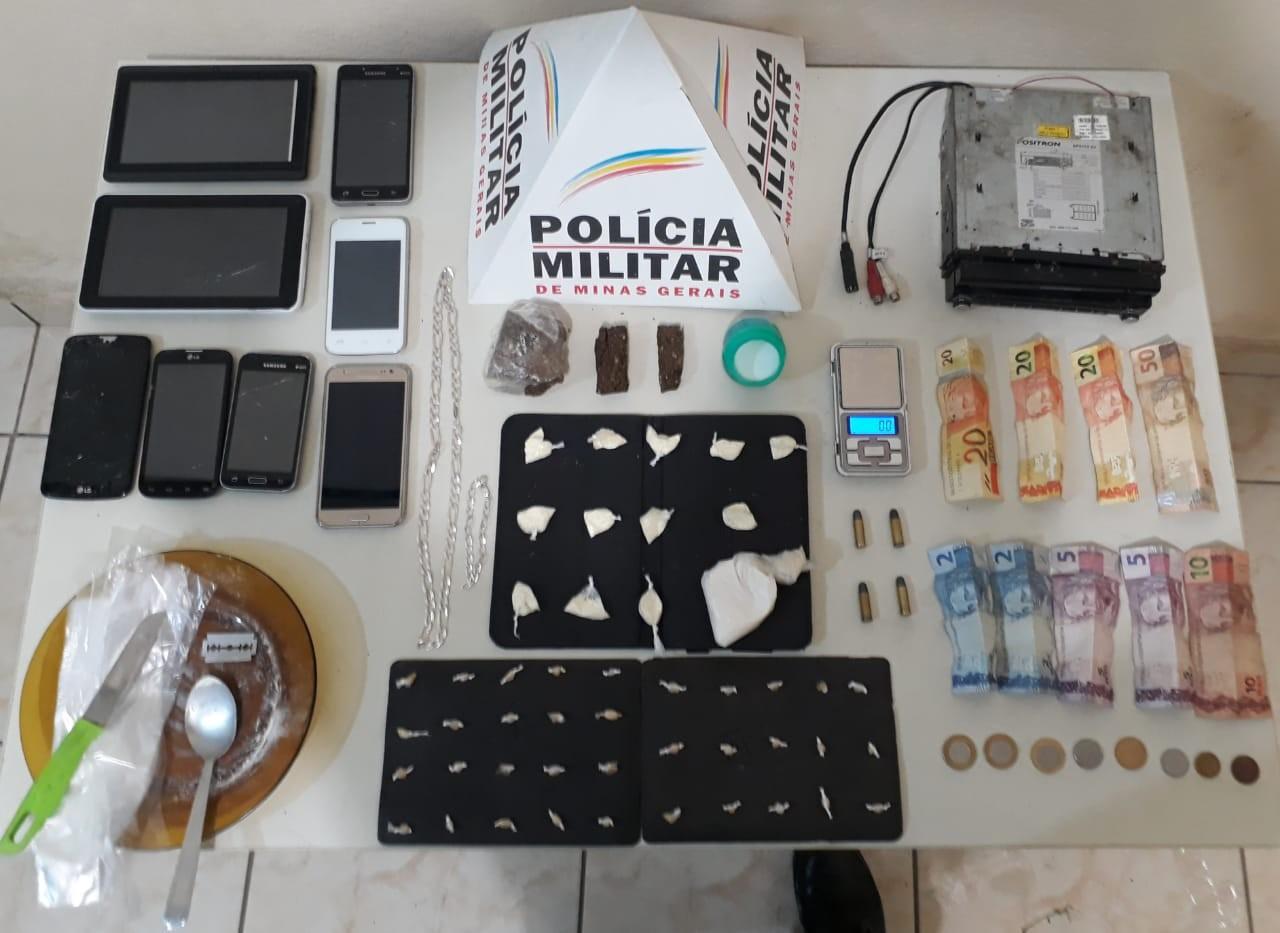 Jovem é preso com maconha, crack e cocaína em Pirapora  - Noticias