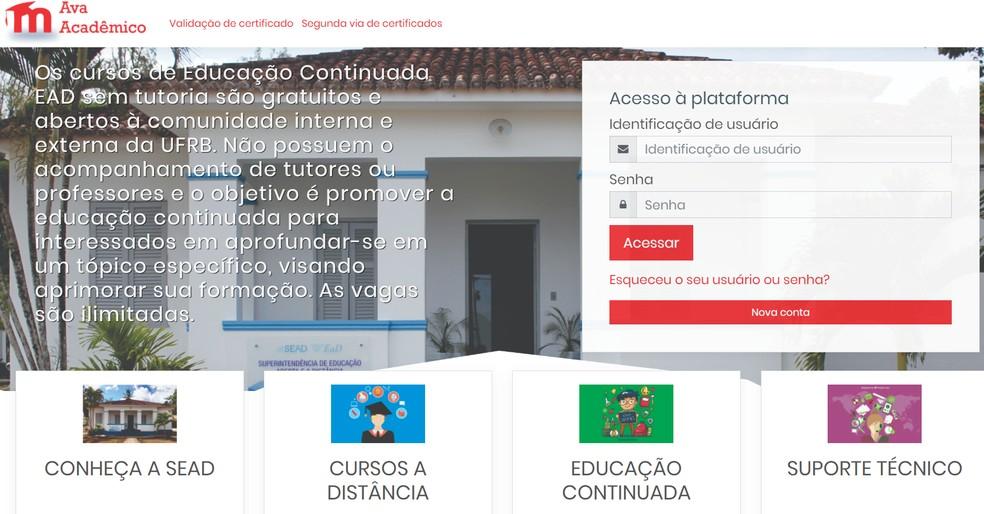 Ava Acadêmico se destaca pela profundidade dos cursos oferecidos — Foto: Reprodução/AVA Acadêmico