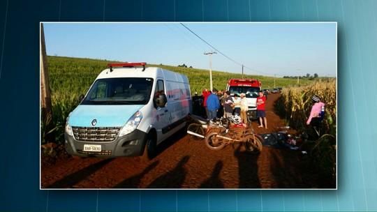 Duas pessoas morrem em acidente na zona rural de Braganey