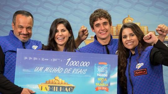 Família de professor de Varginha (MG) ganha R$ 1 milhão no Caldeirão