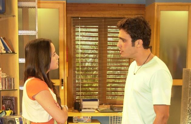 Em 2005, o casal 'Malhação' foi formado por Fernanda Vasconcellos e Thiago Rodrigues (Foto: Márcio de Souza/ TV Globo)