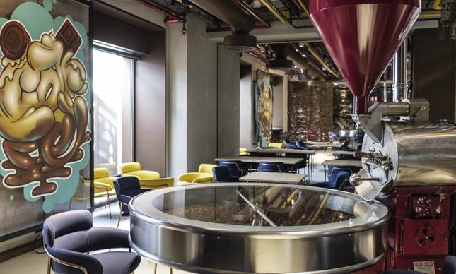 Restaurante Lavazza decorado por Dante Ferretti