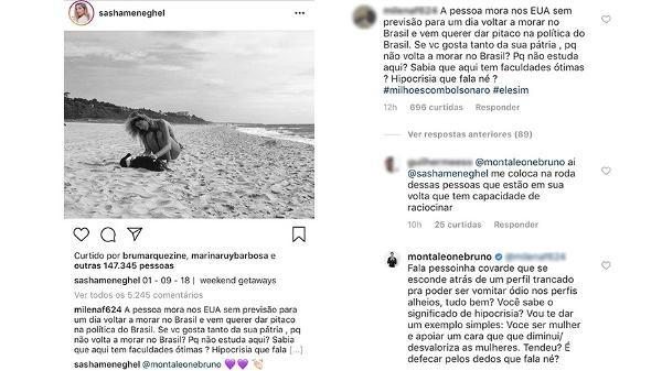 Bruna Montaleone defende Sasha de ataques em rede social (Foto: Reprodução/Instagram)
