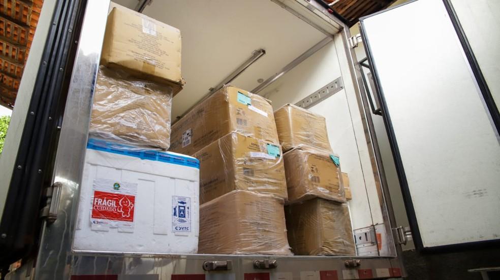 Insumos foram enviados para 16 cidades após a apresentação do plano de vacinação — Foto: Divulgação /Sesapi