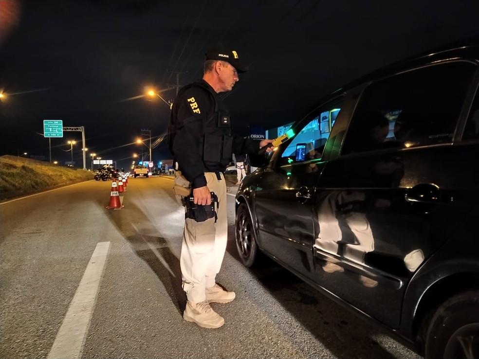 Fiscalização pré-carnaval foi realizada em todo o estado — Foto: Polícia Rodoviária Federal de Santa Catarina/Divulgação