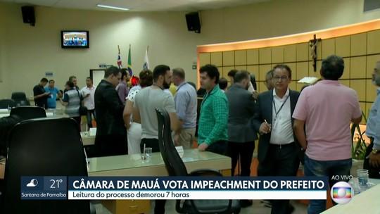 Câmara de Mauá vota impeachment do prefeito