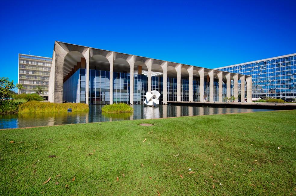 Palácio do Itamaraty - Brasília (DF) #Obras_Niemeyer — Foto: Marcelo Brandt/G1