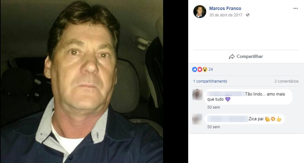 Marcos era caminhoneiro há mais de 30 anos, segundo o sobrinho (Foto: Reprodução/Facebook)