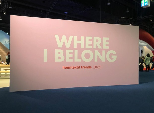 Trend Space Heimtextil 2020 - Where I Belong (Foto: Bruna Pereira/Editora Globo)