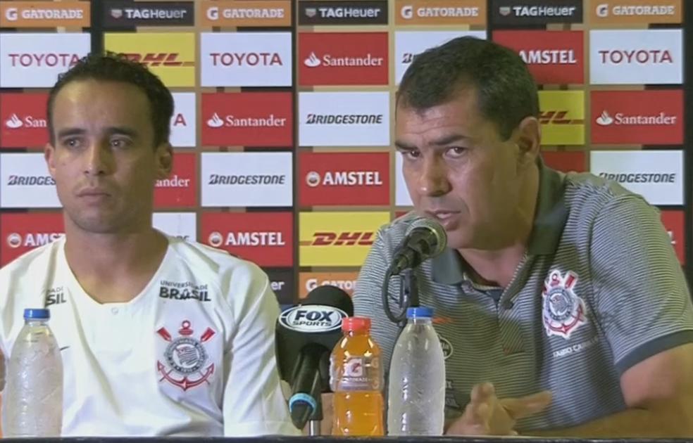 Fábio Carille falou sobre a proposta recebida e da chance de sair (Foto: Reprodução/SporTV)