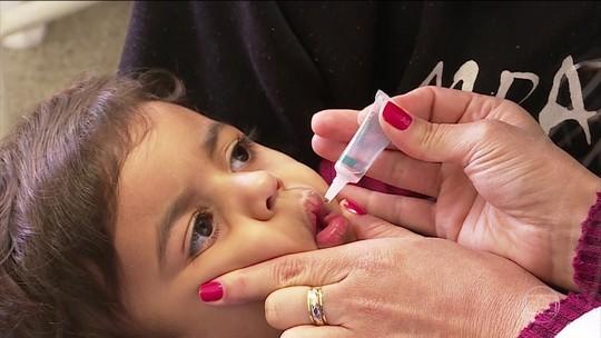 Mutirão de vacinação contra pólio e sarampo acontece sábado (18)
