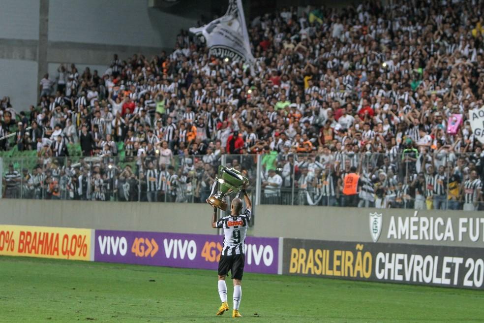 Diego Tardelli é ídolo do Atlético-MG e campeão da Libertadores e da Copa do Brasil pelo clube — Foto: Bruno Cantini/Atlético-MG