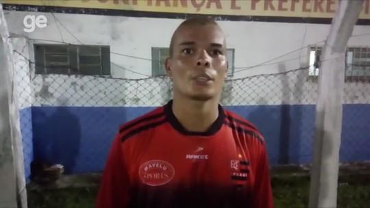 """Artilheiro do Flamengo-PI na pré-temporada, Polho celebra fase: """"Tenho que botar para dentro"""""""
