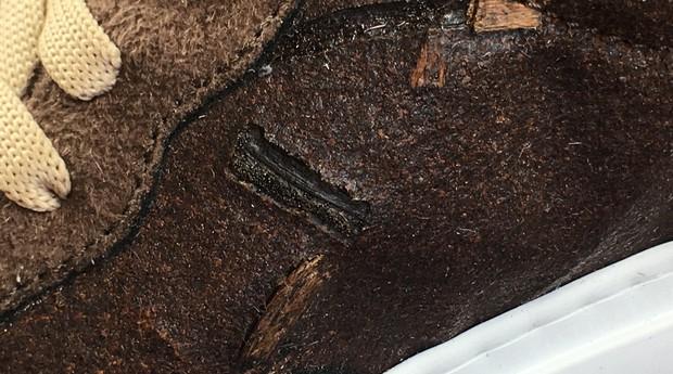 Detalhe da textura dos sapatos (Foto: Divulgação)