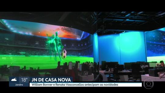 Jornal Nacional está de casa nova a partir da noite desta segunda-feira (19)