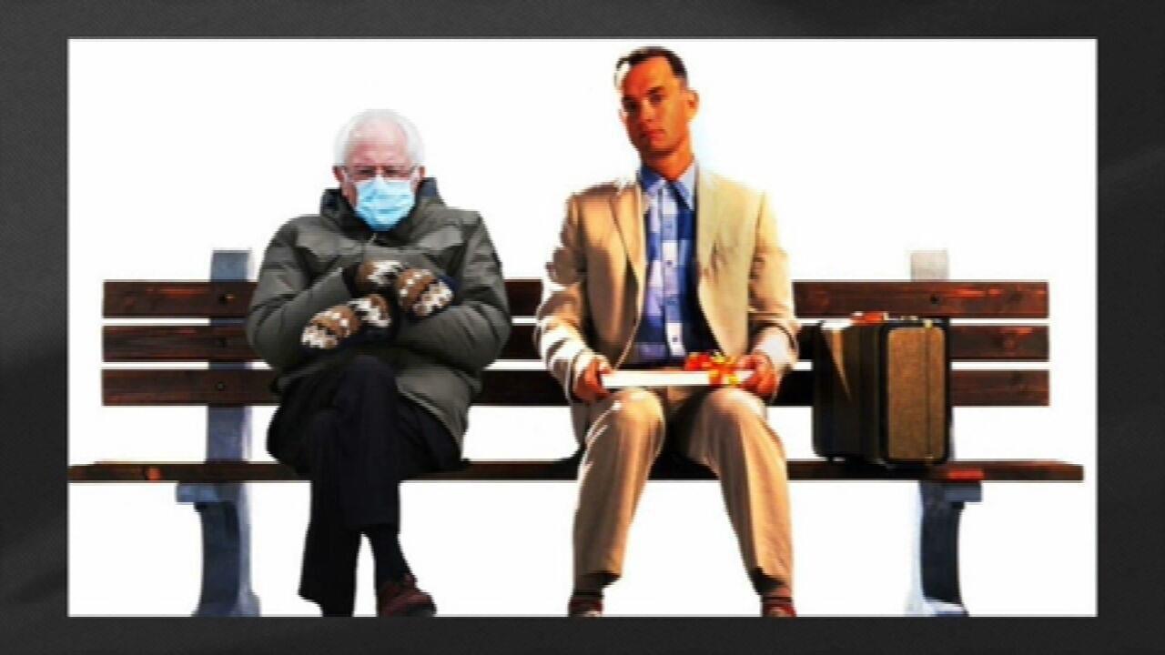 Figurino do senador Bernie Senders vira meme nas redes sociais