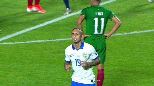 Seleção brasileira só respira com gol de pênalti, o quinto em 11 partidas após a Copa da Rússia