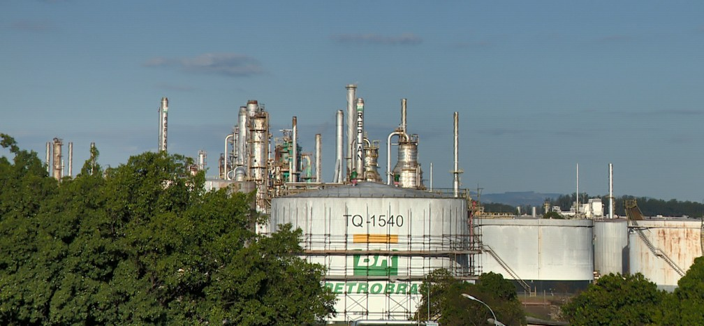 Refinaria de Paulínia (Replan) é a maior da Petrobras — Foto: Reprodução / EPTV