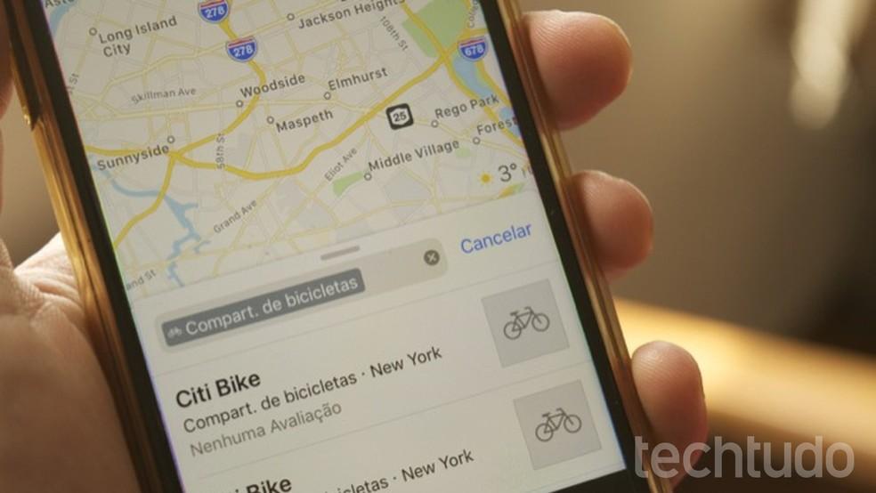 20f5795f8a464 ... Tutorial mostra como encontrar locais de compartilhamento de bicicletas  com o Apple Maps — Foto