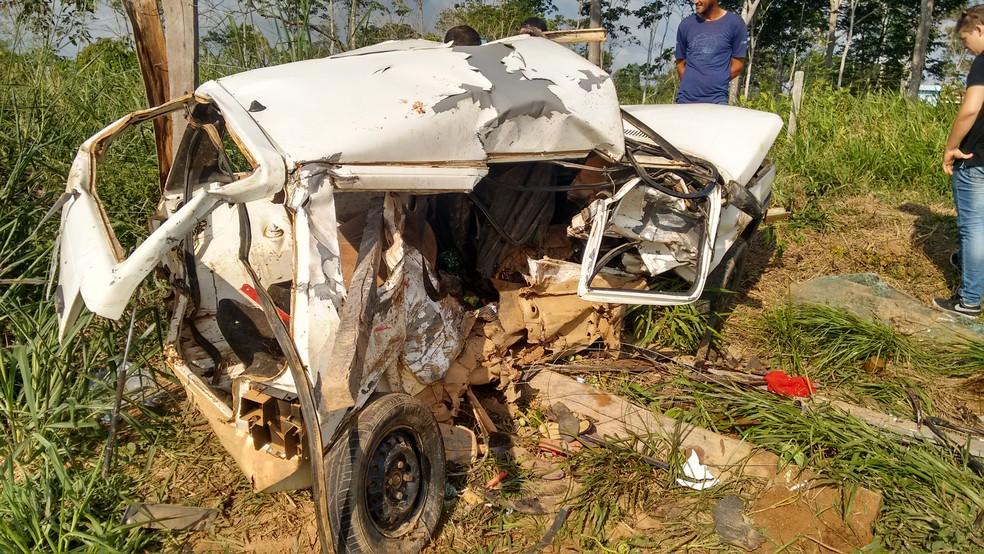 Acidente ocorreu no último domingo (8), em Ji-Paraná (Foto: Wedisson Brito/Rede Amazônica)