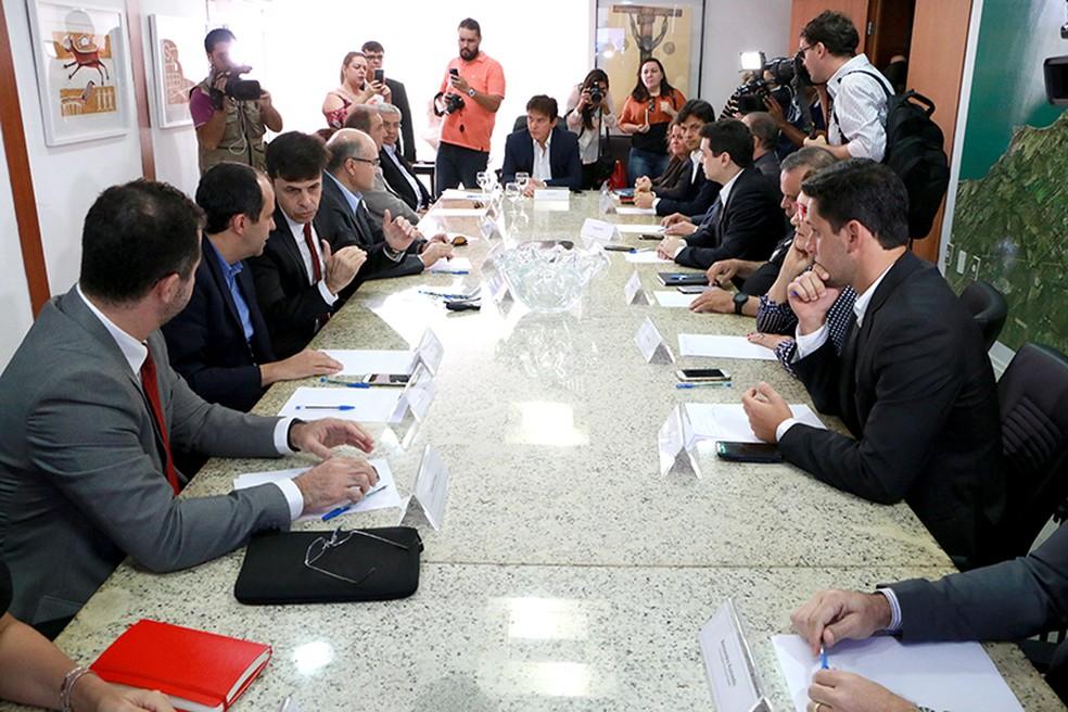 Governador se reuniu com a bancada federal do Rio Grande do Norte para expor a situação financeira do Estado (Foto: Demis Roussos/Secom)