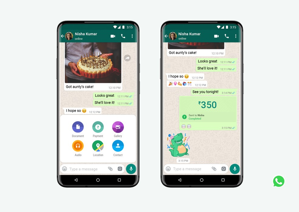 WhatsApp Pay na Índia. — Foto: Divulgação/WhatsApp