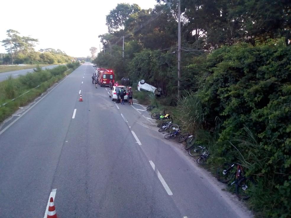 Grupo de ciclistas de São José dos Campos estava em passeio com vítimas — Foto: Divulgação/ Redação Rede Policial