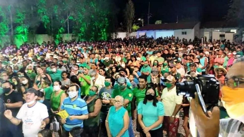 Justiça proíbe aglomerações durante a campanha eleitoral de Meruoca, no Ceará — Foto: Arquivo pessoal