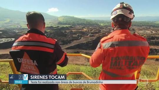 Defesa Civil testa sirenes em Brumadinho, na Grande BH